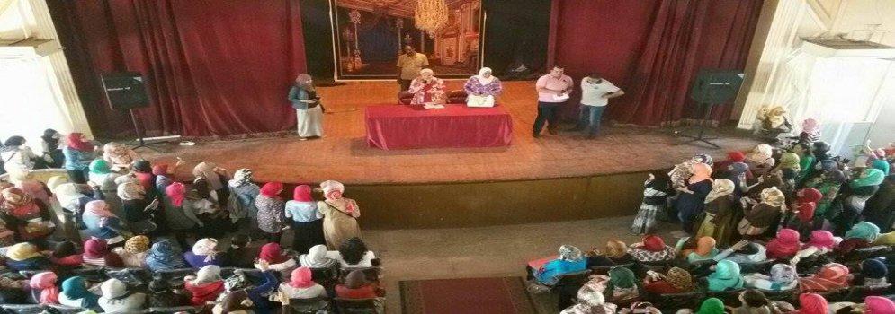 إجتماع عميدة الكلية الأستاذة الدكتور /  رقية حسين شلبي بطالبات الفرقة الأولي